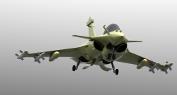 طرح هواپیما dassault rafale با سالیدورک